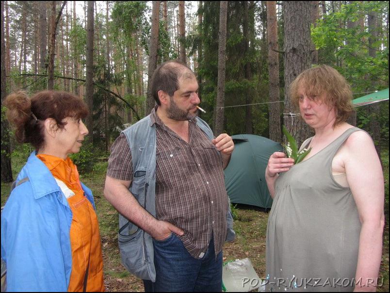Оля Блинкина, Женя Андреев и Нина Вотинцева